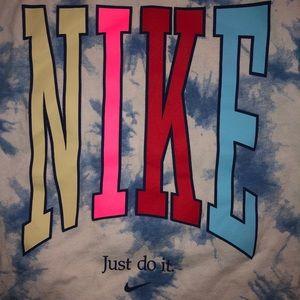 Tie-Dye Nike Peace Sign T-shirt
